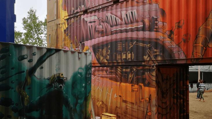 graffiti, dose culture, conteneur, art urbain