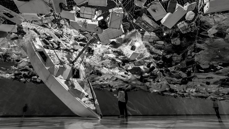 ecoresponsable, réduction des déchets, bateau, déchets, eau. mer, océan, art
