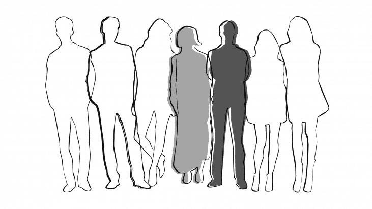 silhouette, homme,femme