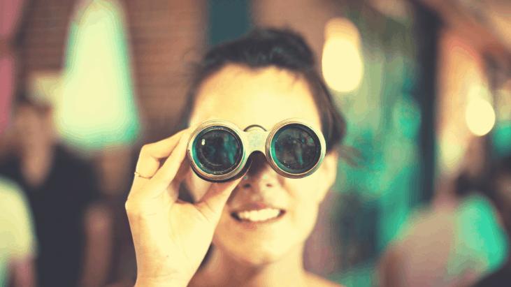 jumelle, recherche, femme, cherche, binocular,