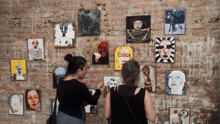 artites, oeuvres, visages, filles, femmes, personnes, artistes, encan,